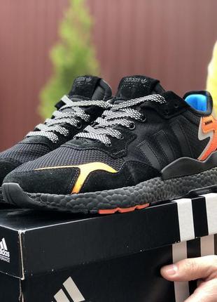 Мужские кроссовки adidas nite jogger🔥весна осень лето цвет чёрный
