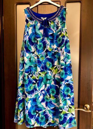 Новое шикарное платье в цветы