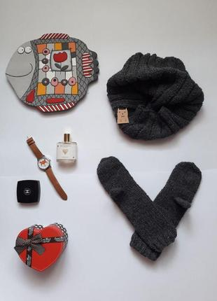 Комплект шарфик і рукавички ручна робота