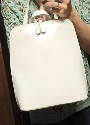 Женская кожаная сумка - рюкзак. жіноча шкіряна сумка шкіряний