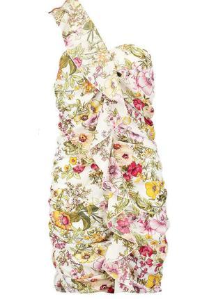 Стильное яркое платье в принт в цветы