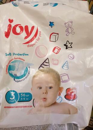 Подгузники Joy Soft Protection размер 3, 4-9 кг, 34 шт