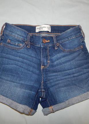Шорты модные джинсовые на девочку 11-12 лет 146-152 см