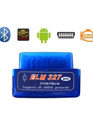 Диагностика авто elm, ELM327, OBD2, Bluetooth, 1 плата, 1.5V