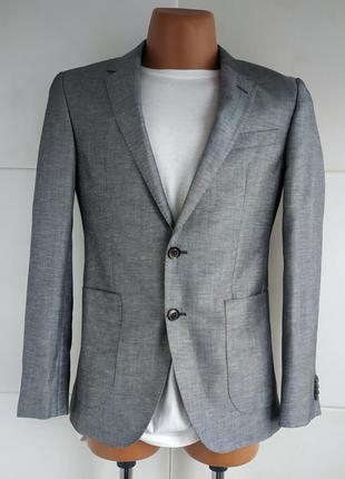 Стильный мужской пиджака tommy hilfiger премиум класса серого ...
