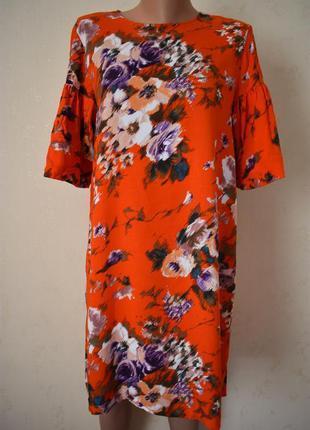 Натуральное платье с принтом h&m