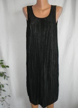 Стильное платье плиссе h&m