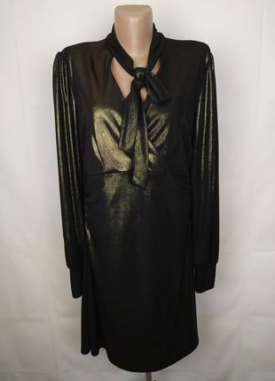 Платье шикарное эластичное золотистое next uk 16/44/xl