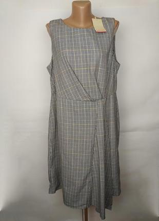 Платье новое стильное в клетку большой размер monsoon uk 18/46...