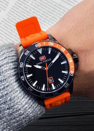 Оригинальные мужские наручные часы Mini Focus MF0020G Orange-Blac