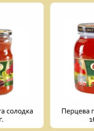 Перцовая паста Oncu сладка/острая 370/700/1650/4300 гр.