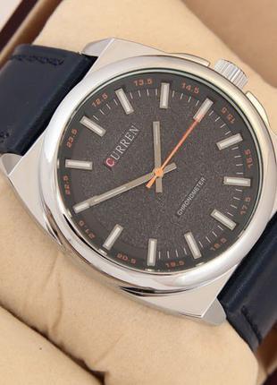 Оригинальные мужские наручные часы Curren Classico 8168 Silver-Bl