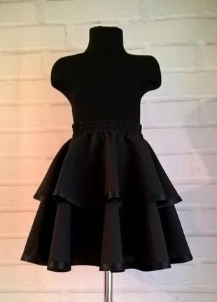 Черная школьная юбка. школьная форма. юбка для девочек. рр 122...