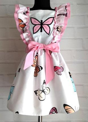 Детское платье с принтом бабочки и крылышками. детское платье ...