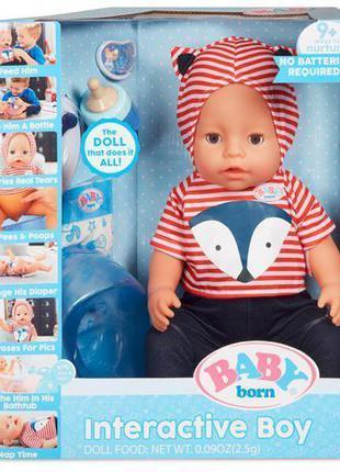 Беби Борн Интерактивная кукла Пупс Мальчик Baby Born Interacti...