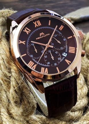 Оригинальные мужские наручные часы Megalith 0092M Brown-Cuprum-Br