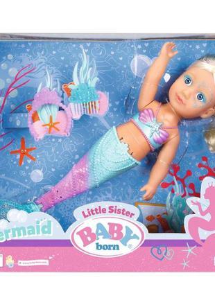 Интерактивная кукла Борн Baby Born Сестричка Русалочка 32 см 8...