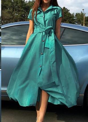 Платье халат с карманами. сарафан миди