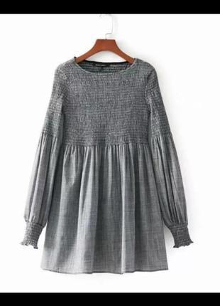 Платье zara в клетку . sale !!!