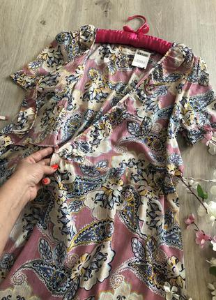 Летнее длинное платье на запах, асимметричное платье