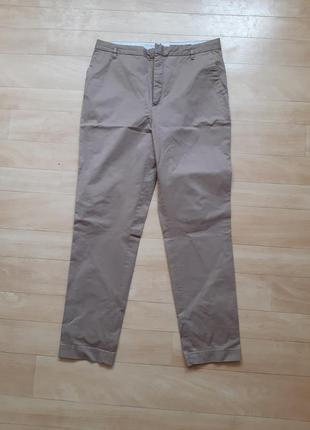 Джинсы брюки штаны zara светло- коричневого цвета