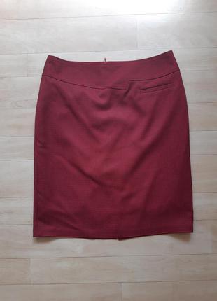 Бордовая юбка на подкладке