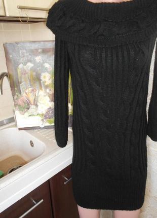 #miss selfridge#теплое вязанное косами платье р.s\xs #туника #...