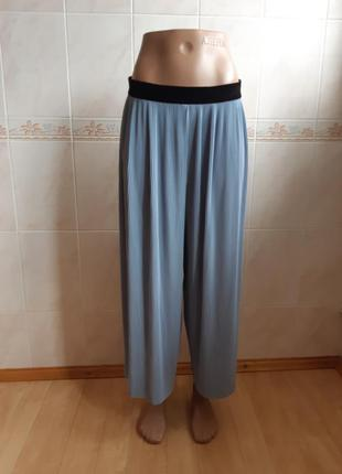 Широкие укороченные штаны брюки zara basic