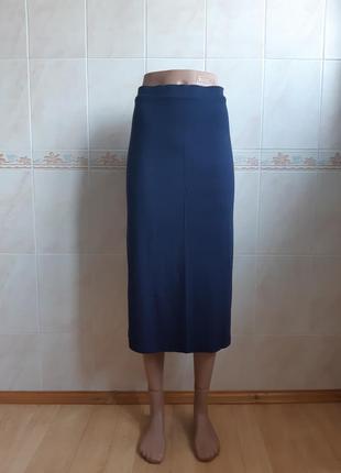 Длинная трикотажная синяя юбка next