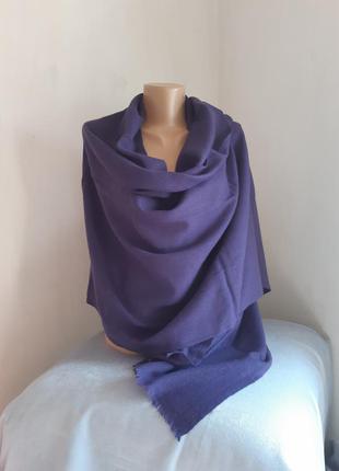 Тончайший кашемировый фиолетовый палантин шарф