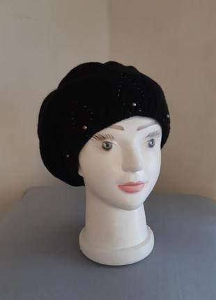 Чёрная шерстяная шапка maxval