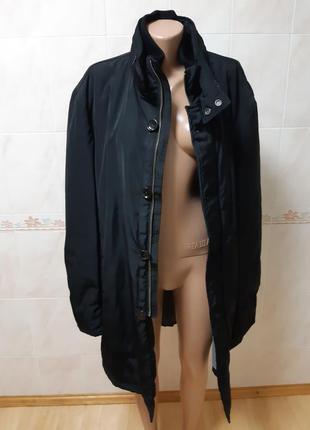 Чёрная мужская тёплая куртка seventy