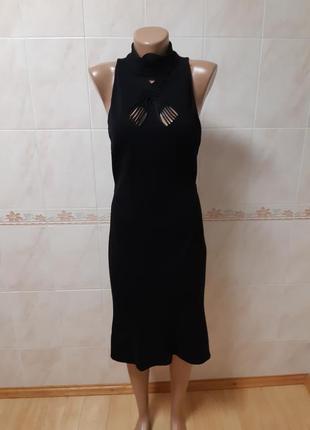 Тёплое чёрное платье diane von furstenberg