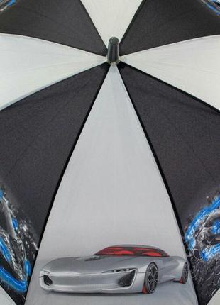 Зонт-трость для мальчика на 5-9 лет супермашины supercar
