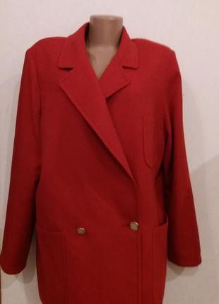 Пиджак шерстяное пальто бойфренд от burberry оригинал с номером