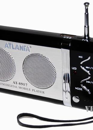 Портативная колонка с FM и МР 3 Atlanfa AТ-8957