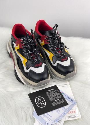 Женские кроссовки addict sneakers black red white.