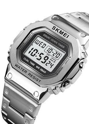 Оригинальные мужские наручные часы Skmei 1456 Silver