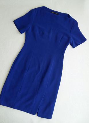 Синее платье-футляр zara размер s