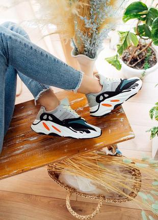 Стильные кроссовки унисекс yeezy boost 700 wave runner solid