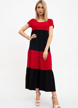 Красно- чёрное ♥️🖤миди платье