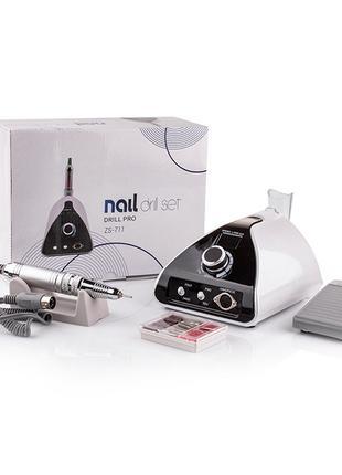 Фрезер для маникюра nail drill zs-711 pro white