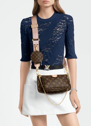 Женская сумка Сумка Louis Vuitton Multi Pochette Rose