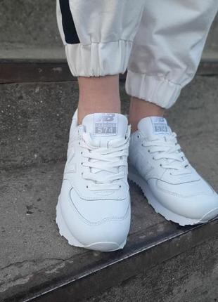 Кроссовки new balance белые