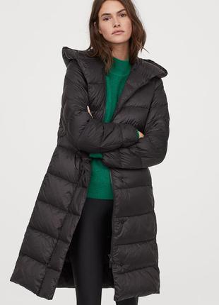 Лёгкое пуховое пальто оверсайз от h&m