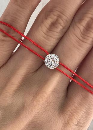 Красная нить серебро 925 браслет 4088