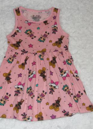 платье хлопковое лол сарафан 4 - 5 лет
