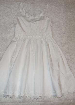 Платье хлопковый сарафан девочке 10 - 11 лет