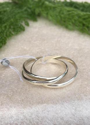Кольцо серебряное 3 в 1 вера, надежда, любовь 1045