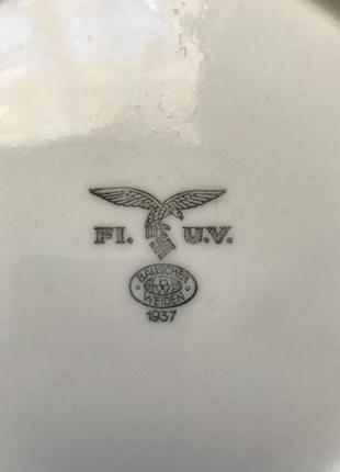 Супница немецкая рейха Bausher Weiden 1937 фарфор